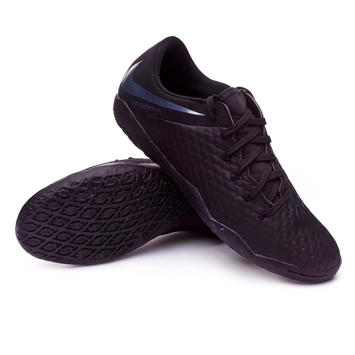 8d4fbeb8175 Futsal Boot Nike Hypervenom Phantom III Academy IC Black - Football ...