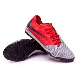 Zapatilla  Nike Hypervenom Zoom PhantomX III Pro Turf Wolf grey-Metallic dark grey-Light crimson