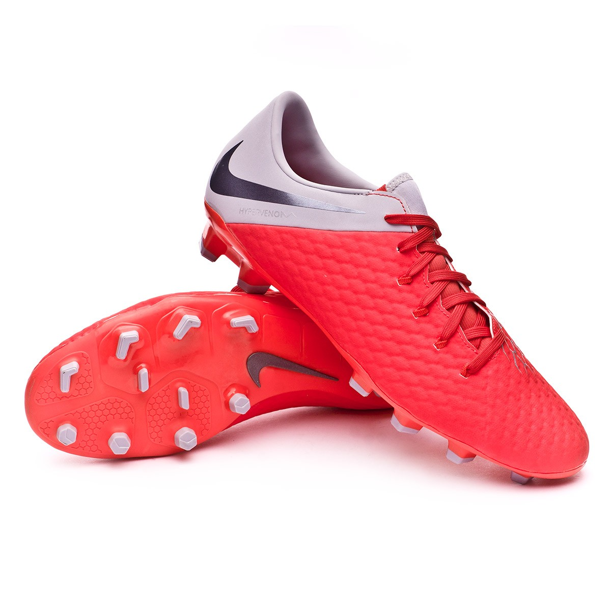 best website 5ac90 7968e Bota Hypervenom Phantom III Academy FG Light crimson-Metallic dark  grey-Wolf grey