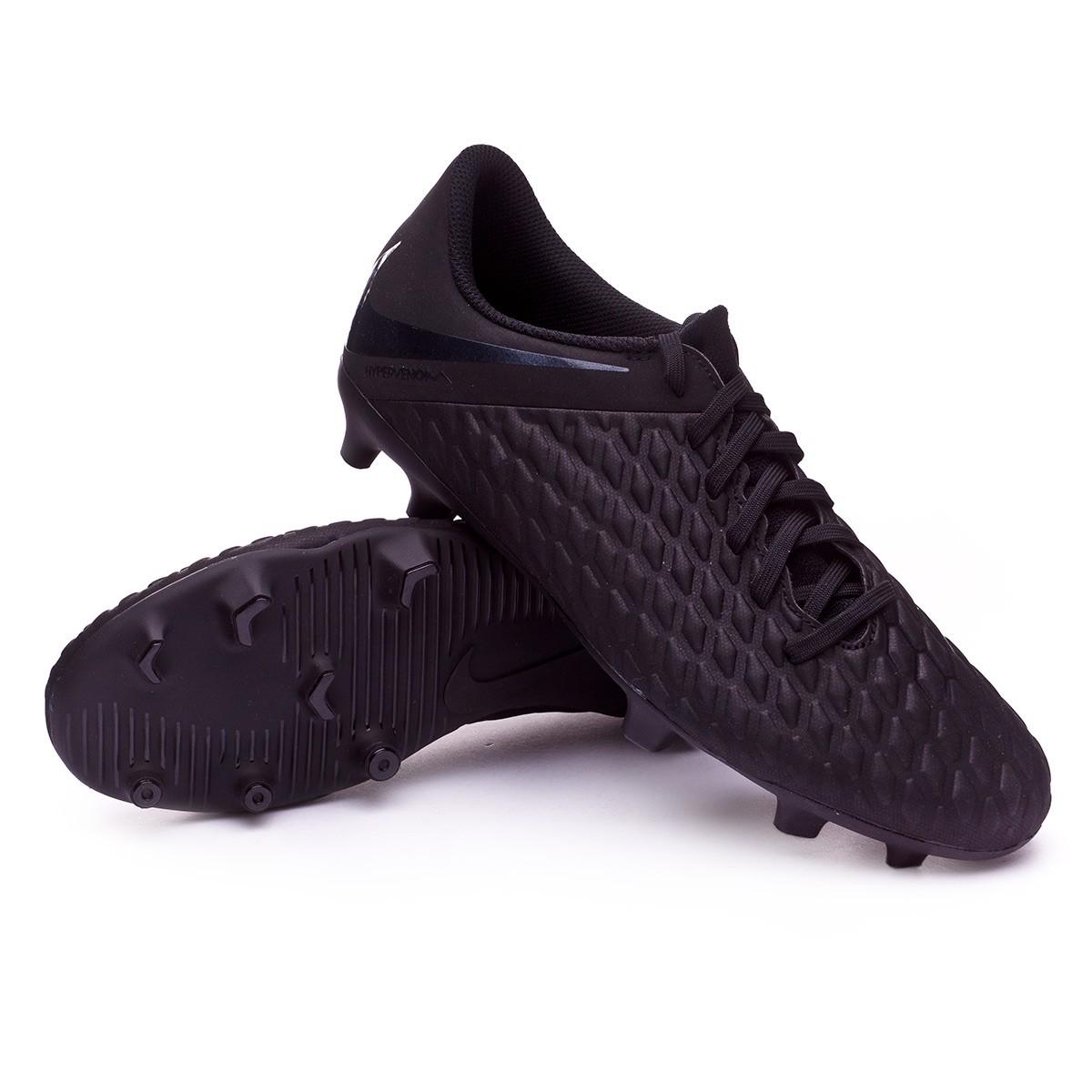 11bdb2282cbb Football Boots Nike Hypervenom Phantom III Club FG Black - Football ...