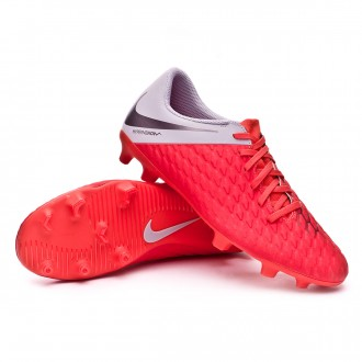 Bota  Nike Hypervenom Phantom III Club FG Light crimson-Metallic dark grey-Wolf grey