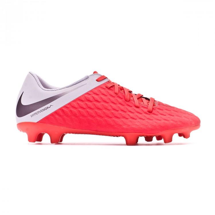 Bota de fútbol Nike Hypervenom Phantom III Club FG Light crimson ... b25a8a57b1496
