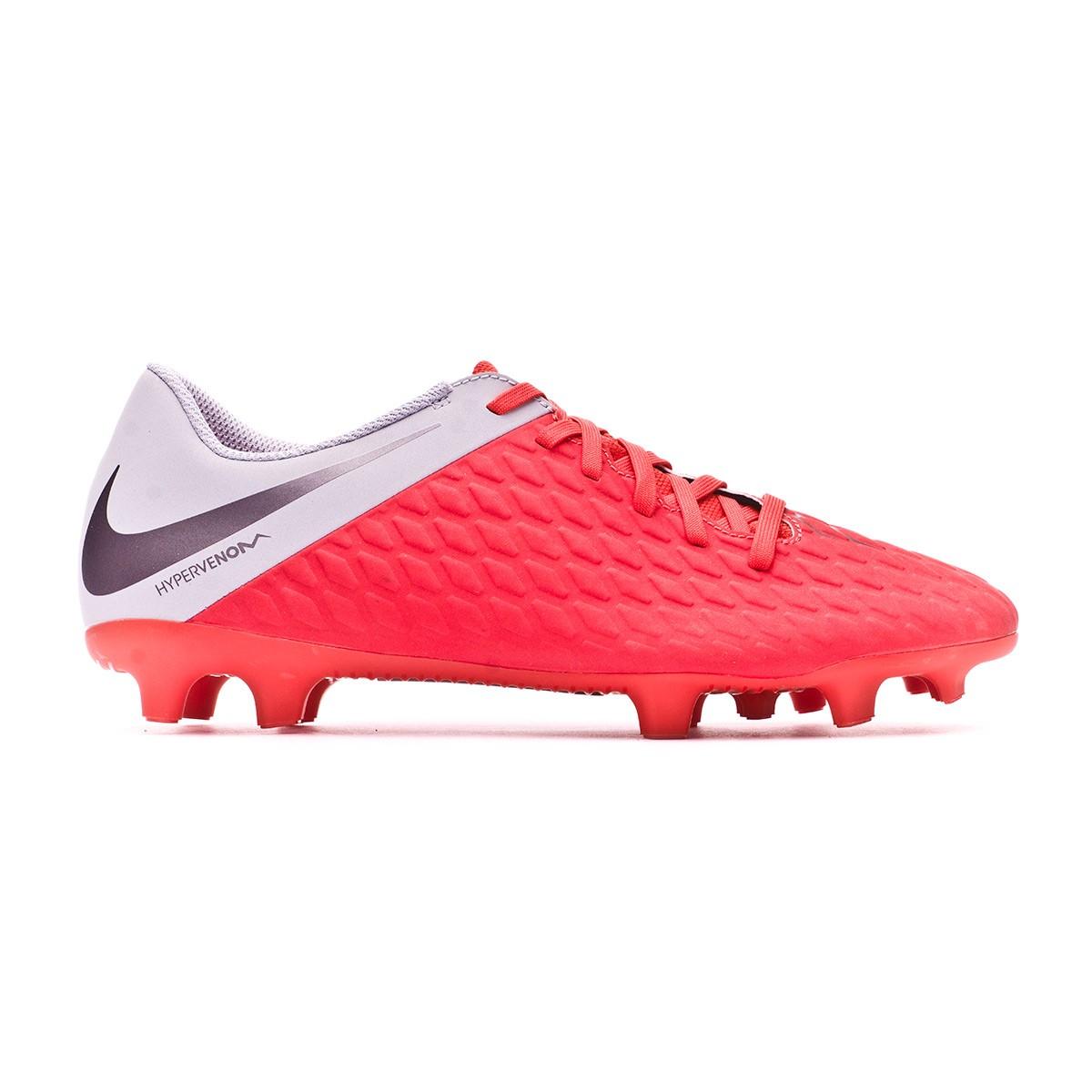 0c5b54271e9 Football Boots Nike Hypervenom Phantom III Club FG Light crimson-Metallic  dark grey-Wolf grey - Tienda de fútbol Fútbol Emotion