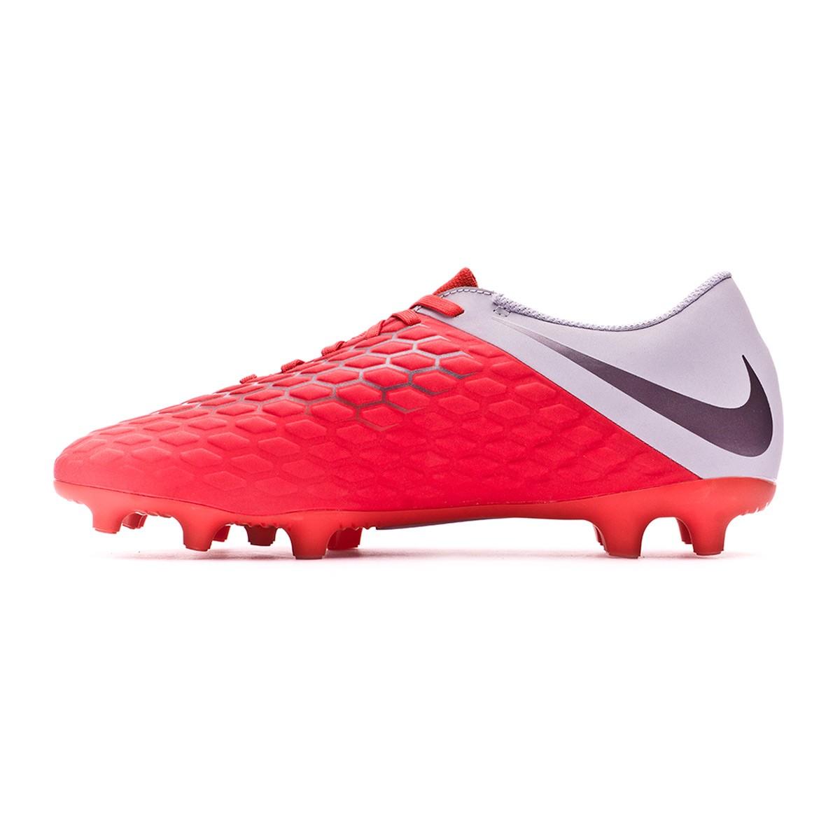 1f5bc5cd0 Football Boots Nike Hypervenom Phantom III Club FG Light crimson-Metallic  dark grey-Wolf grey - Tienda de fútbol Fútbol Emotion