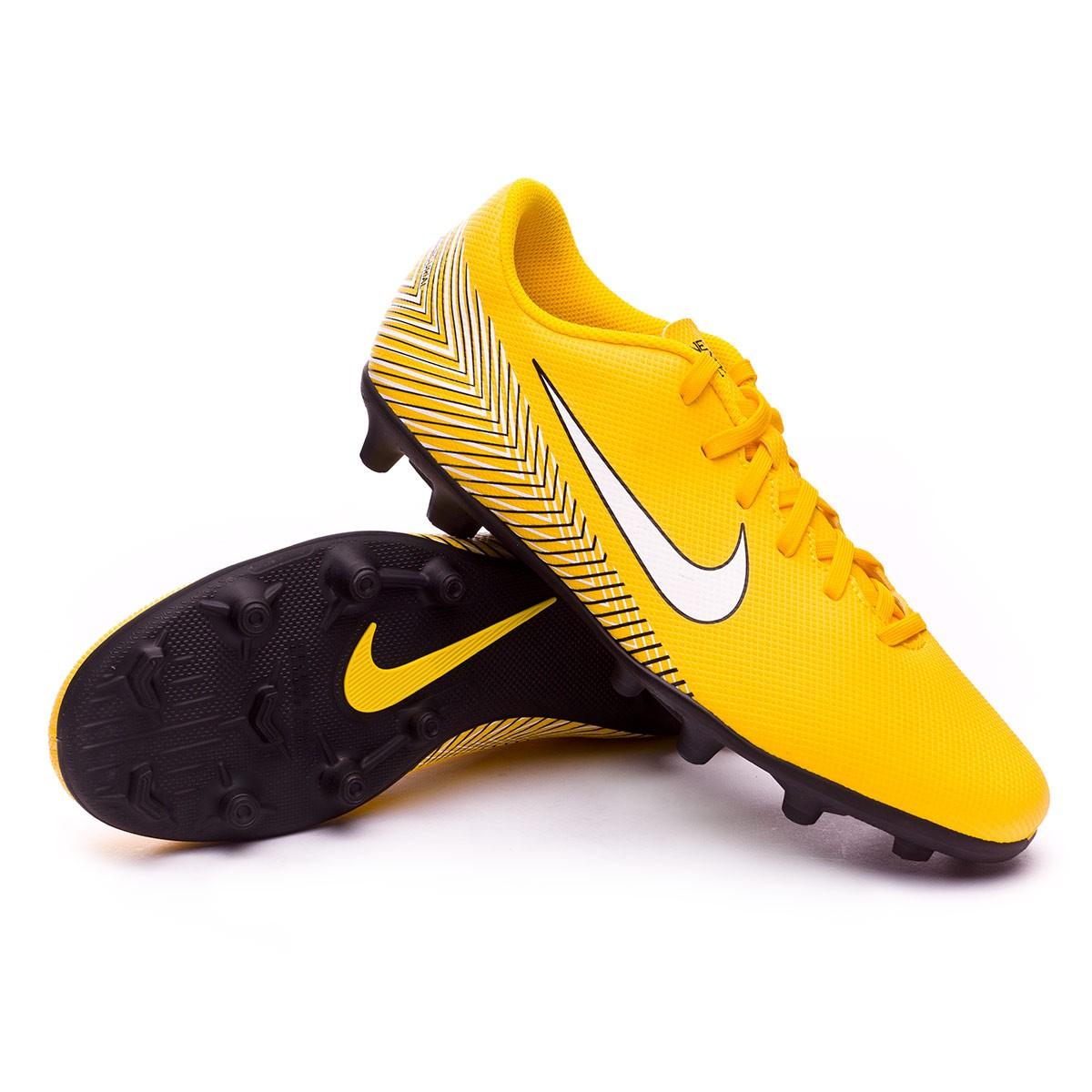 21e61d9c68a9 Football Boots Nike Mercurial Vapor XII Club MG Neymar Yellow-Black -  Football store Fútbol Emotion