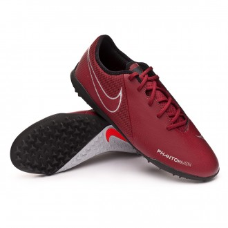 Football Boot  Nike Phantom Vision Academy Turf Team red-Metallic dark grey-Metallic silver