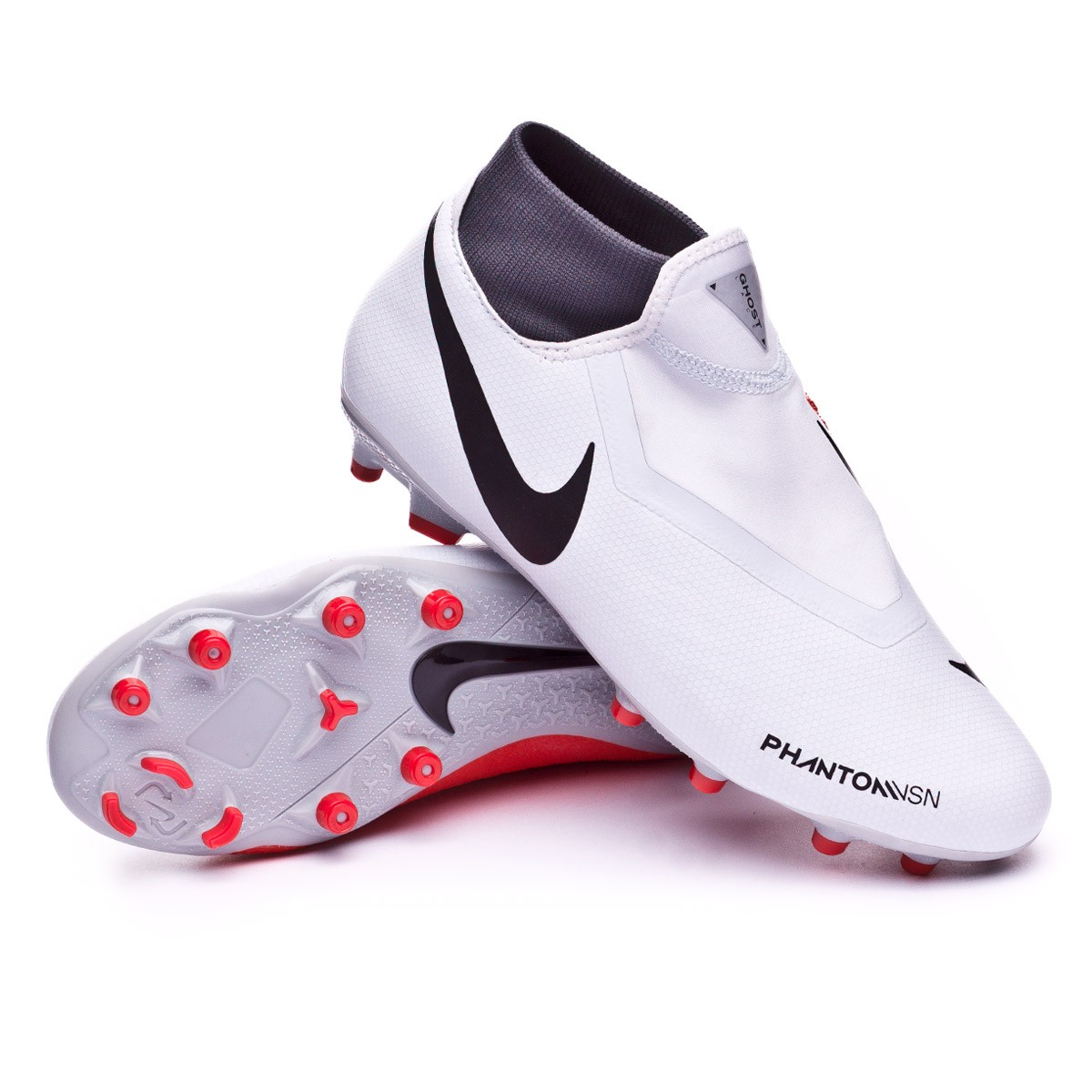 a29416cf88e62 Zapatos de fútbol Nike Phantom Vision Academy DF MG Pure  platinum-Black-Light crimson-Dark grey - Tienda de fútbol Fútbol Emotion