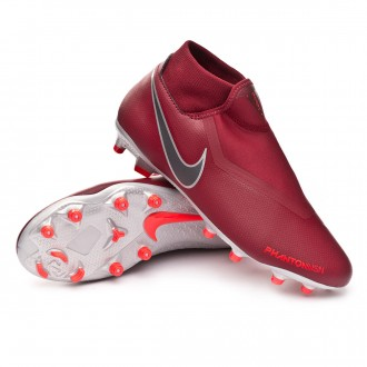 Chuteira  Nike Phantom Vision Academy DF MG Team red-Metallic dark grey-Bright crimson