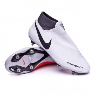 Chuteira  Nike Phantom Vision Academy DF SG Pure platinum-Black-Light crimson-Dark grey