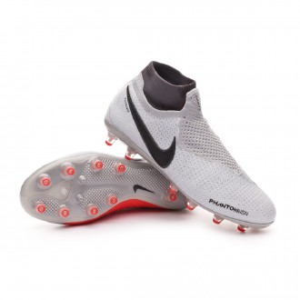 Chuteira  Nike Phantom Vision Elite DF AG-Pro Pure platinum-Black-Light crimson-Dark grey
