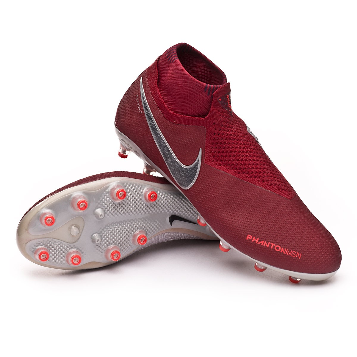 6ad9e80fd Nike Phantom Vision Elite DF AG-Pro Football Boots. Team red-Metallic dark  ...