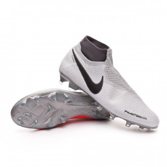Boot  Nike Phantom Vision Elite DF FG Pure platinum-Black-Light crimson-Dark grey