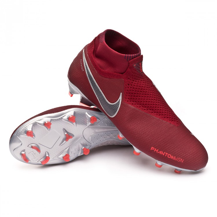 b454fa1487d16 Bota de fútbol Nike Phantom Vision Elite DF FG Team red-Metallic ...