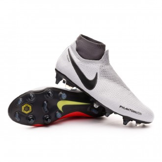 Chuteira  Nike Phantom Vision Elite DF SG-Pro AC Pure platinum-Black-Light crimson-Dark grey