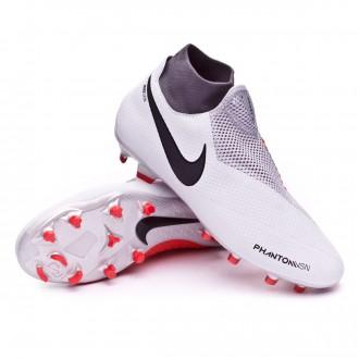 Boot  Nike Phantom Vision Pro DF FG Pure platinum-Black-Light crimson-Dark grey