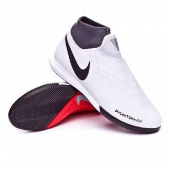 Futsal Boot  Nike Phantom Vision Academy DF IC Pure platinum-Black-Light crimson-Dark grey