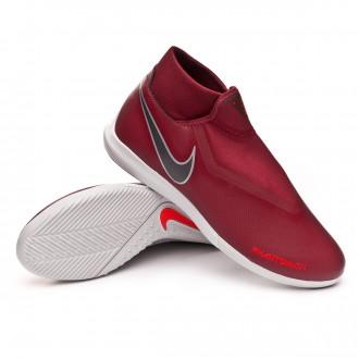 Scarpa  Nike Phantom Vision Academy DF IC Team red-Metallic dark grey-Bright crimson