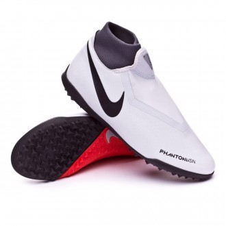Football Boot  Nike Phantom Vision Academy DF Turf Pure platinum-Black-Light crimson-Dark grey