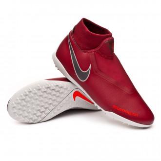 Football Boot  Nike Phantom Vision Academy DF Turf Team red-Metallic dark grey-Bright crimson