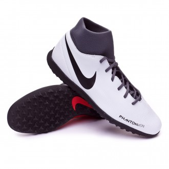 Football Boot  Nike Phantom Vision Club DF Turf Pure platinum-Black-Light crimson-Dark grey