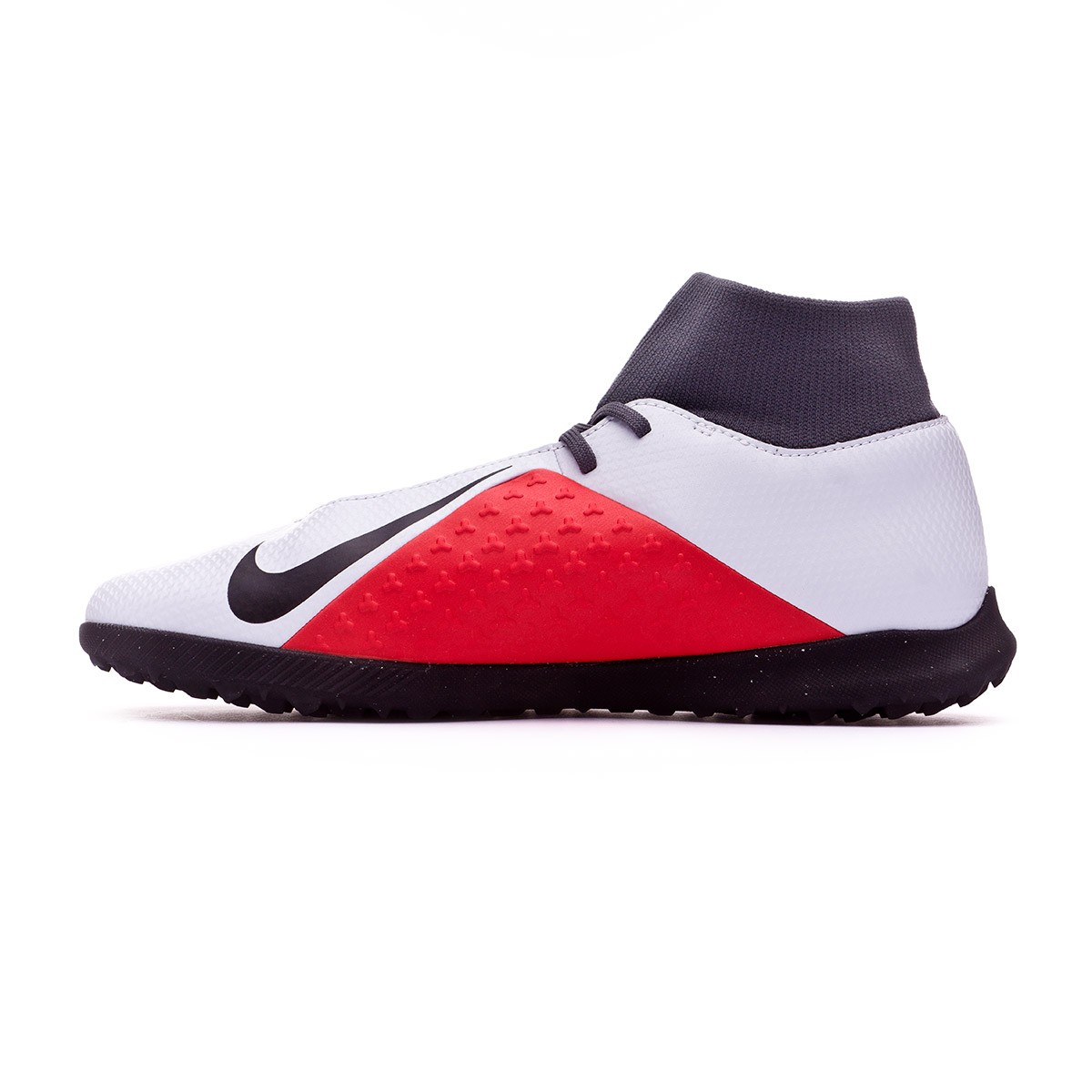 cc1dd792fc6 Football Boot Nike Phantom Vision Club DF Turf Pure platinum-Black-Light  crimson-Dark grey - Football store Fútbol Emotion