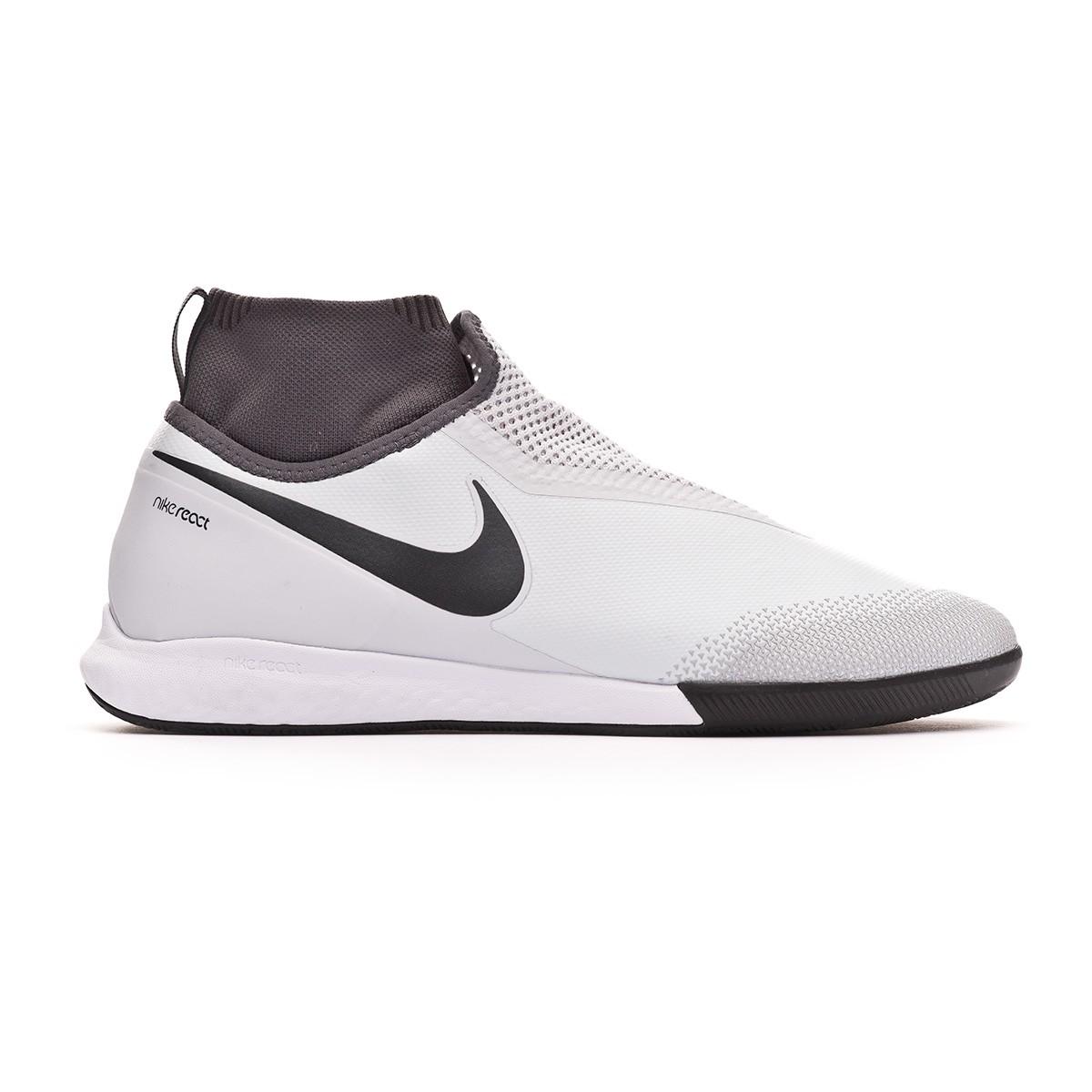 185f4af7e Futsal Boot Nike React Phantom Vision Pro DF IC Pure platinum-Light crimson-Wolf  grey - Football store Fútbol Emotion