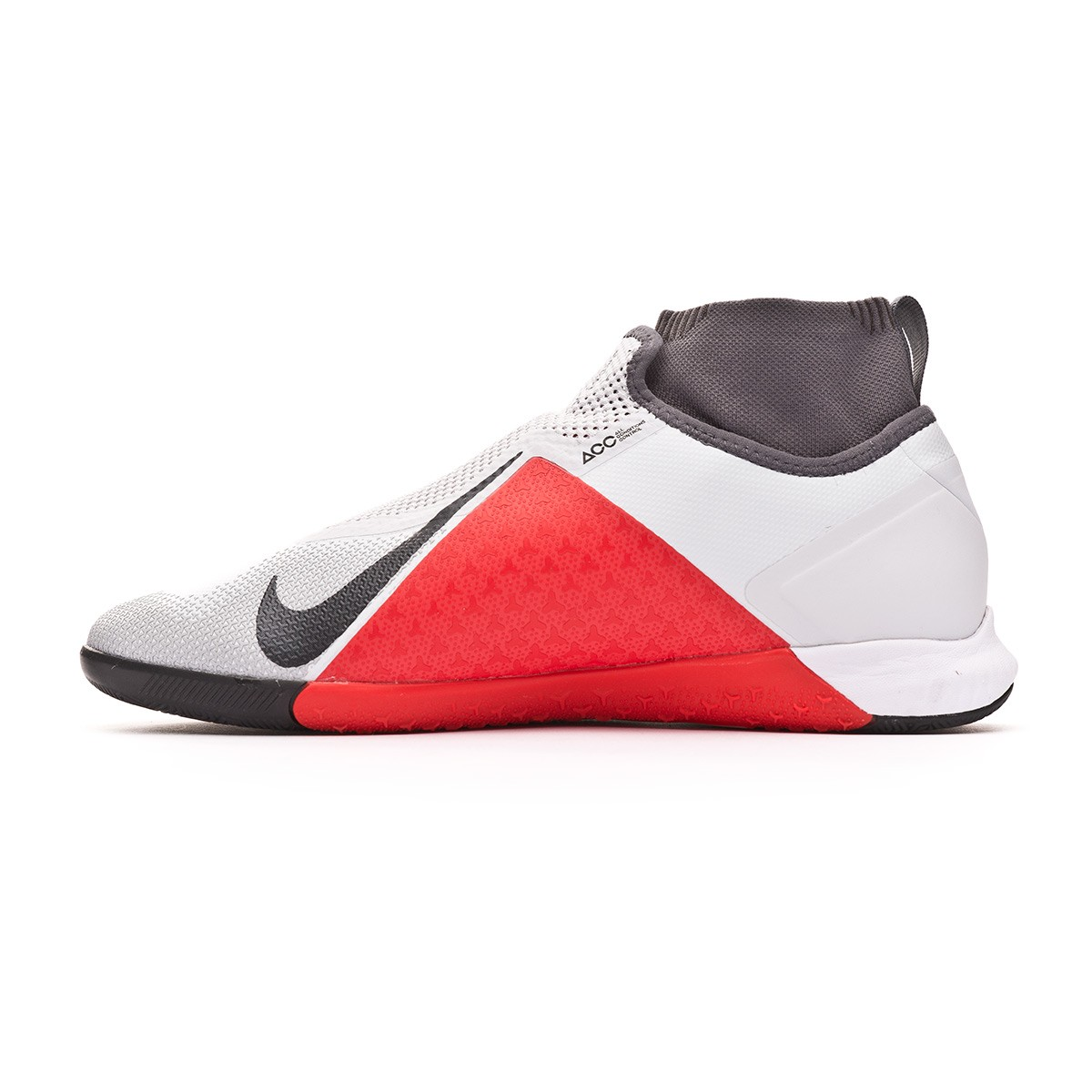bb158e95d Futsal Boot Nike React Phantom Vision Pro DF IC Pure platinum-Light  crimson-Wolf grey - Football store Fútbol Emotion