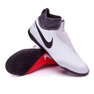 Football Boot  Nike React Phantom Vision Pro DF Turf Pure platinum-Light crimson-White