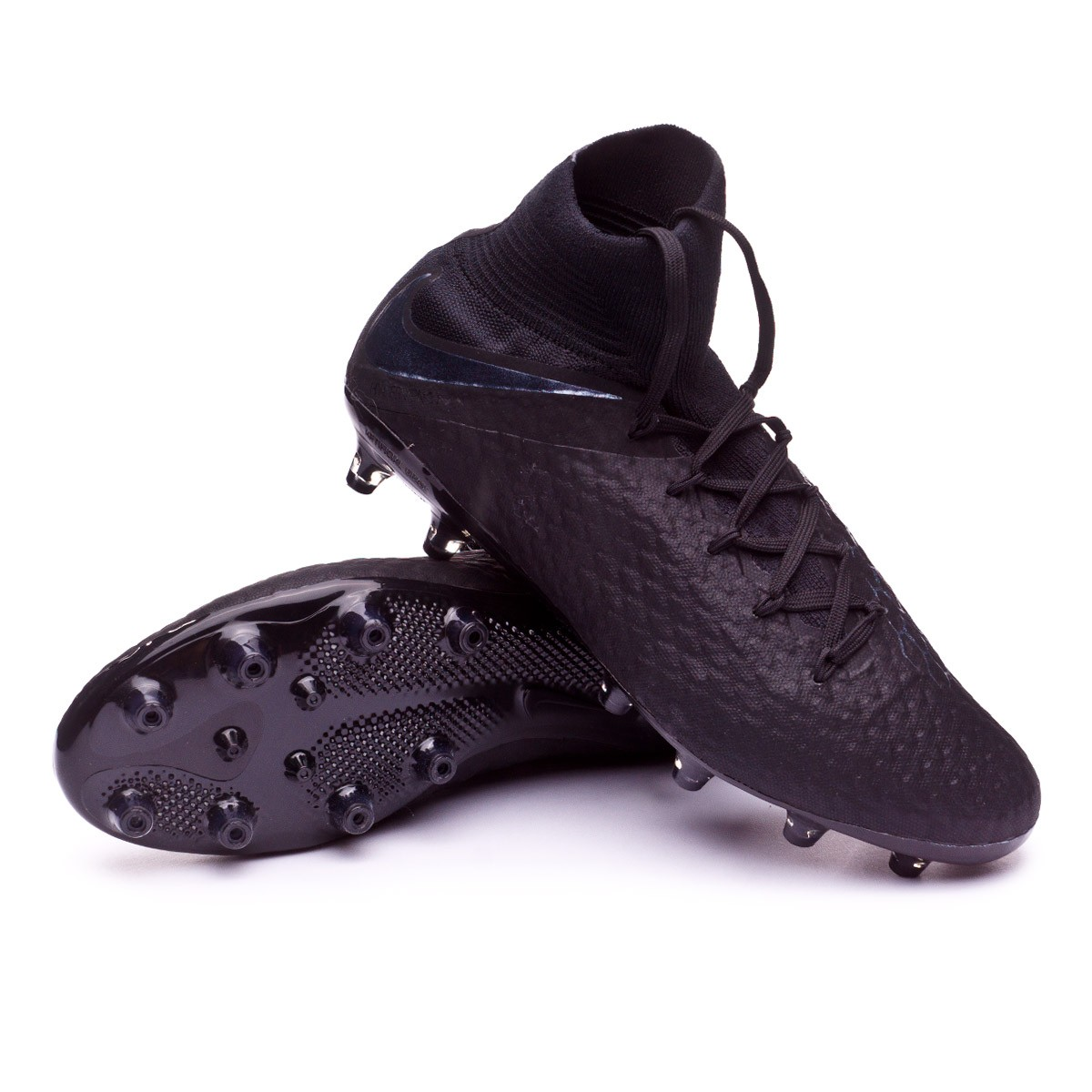 fashion styles limited guantity on feet images of Bota Hypervenom Phantom III Pro DF AG-Pro Black