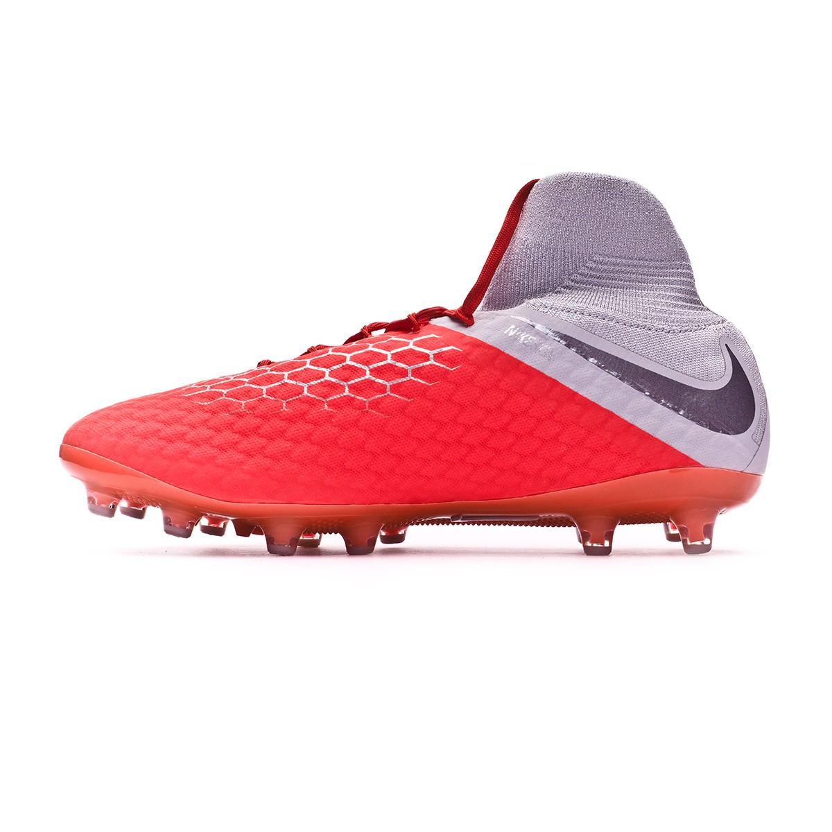 índice Izar Hacia atrás  Football Boots Nike Hypervenom Phantom III Pro DF AG-Pro Light  crimson-Metallic dark grey-Wolf grey - Football store Fútbol Emotion