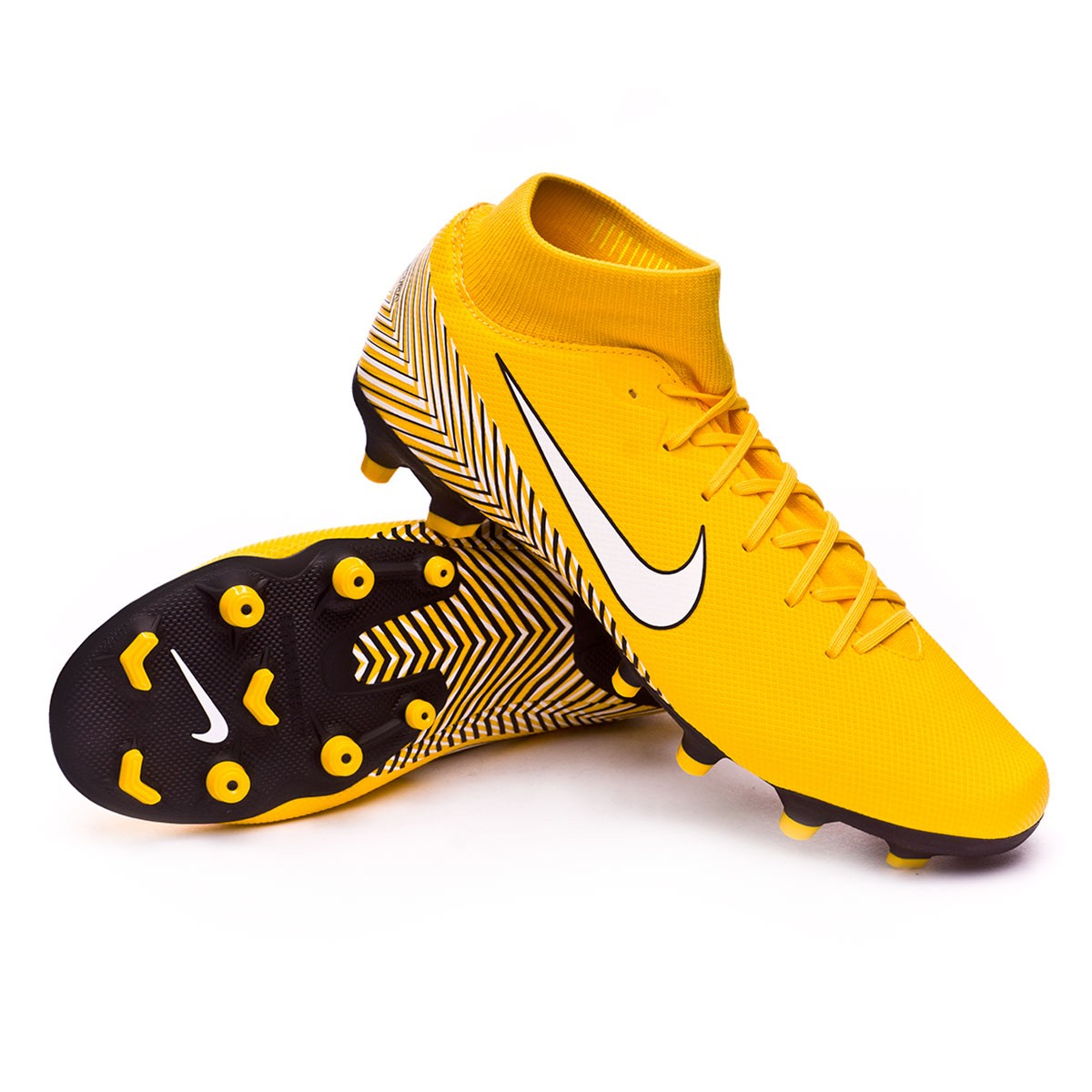 b26a4a962 Football Boots Nike Mercurial Superfly VI Academy MG Neymar Yellow ...