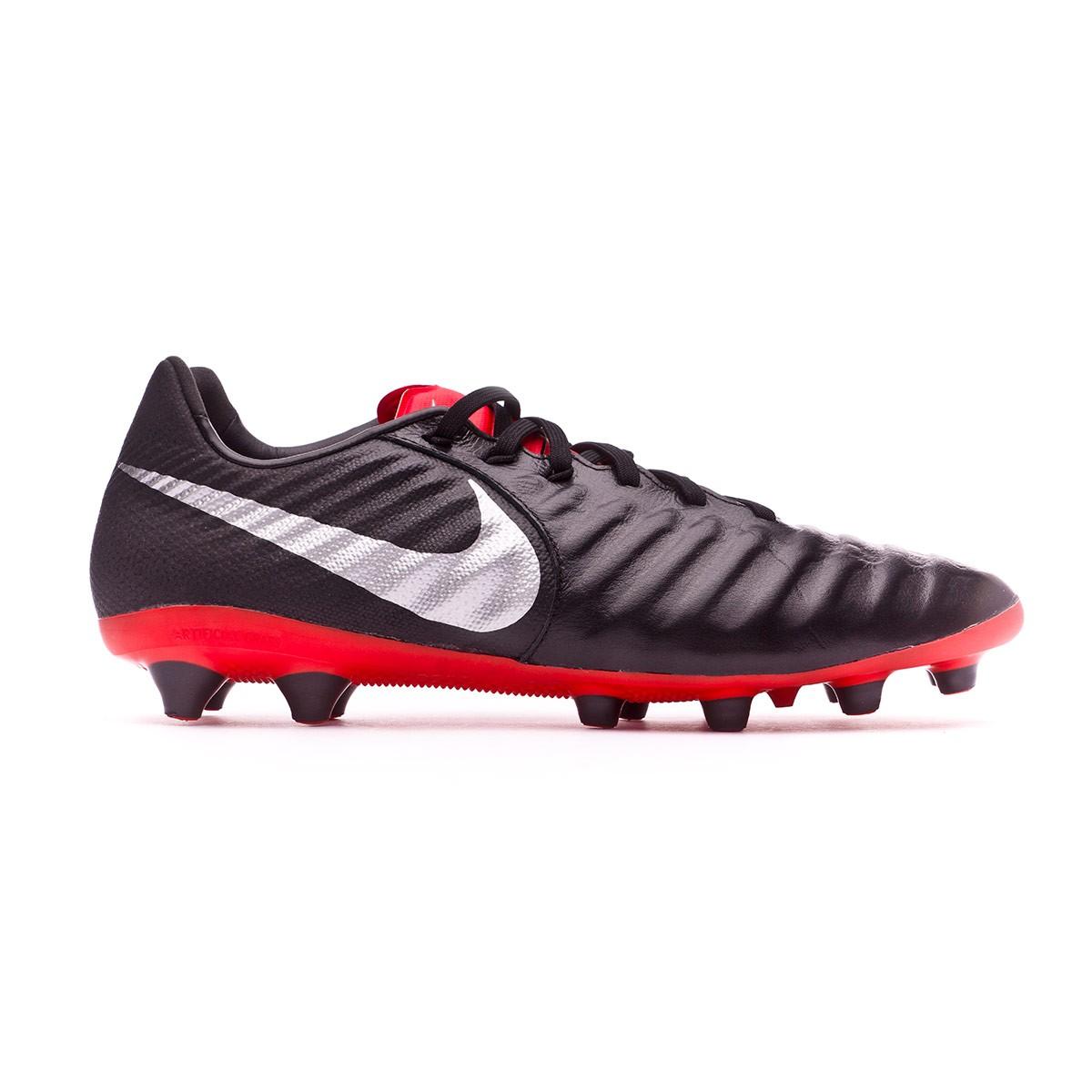new products 74752 2b176 Football Boots Nike Tiempo Legend VII Pro AG-Pro Black-Metallic silver-Light  crimson - Tienda de fútbol Fútbol Emotion
