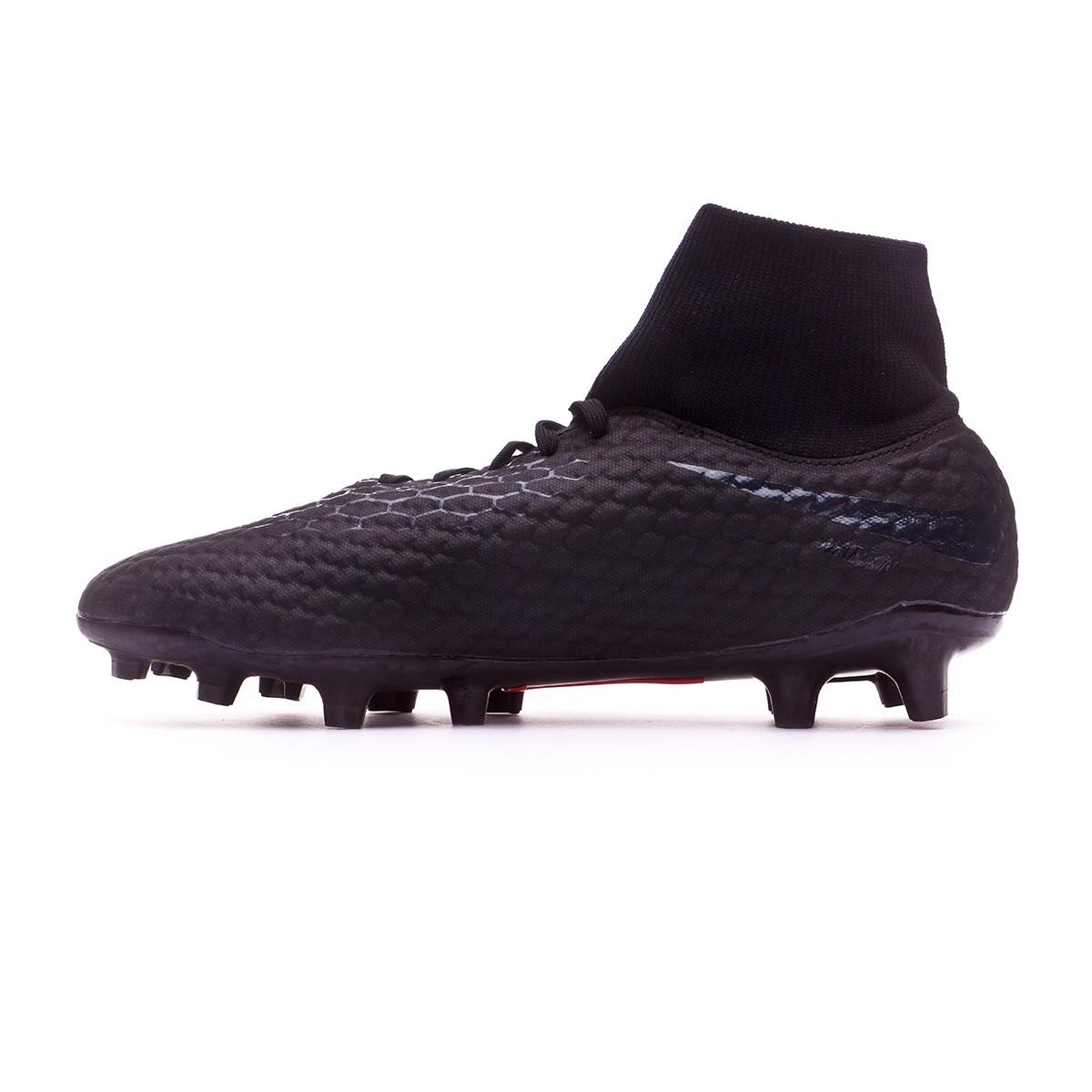 online retailer 74da0 46e1a Chaussure de foot Nike Hypervenom Phantom III Academy DF FG Black -  Boutique de football Fútbol Emotion
