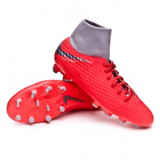 Bota  Nike Hypervenom Phantom III Academy DF FG Light crimson-Metallic dark grey-Wolf grey