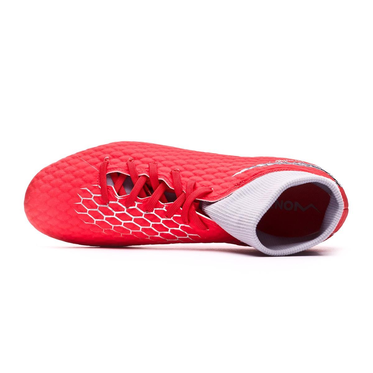 new style 976df fcf1f Chaussure de foot Nike Hypervenom Phantom III Academy DF FG Light crimson-Metallic  dark grey-Wolf grey - Boutique de football Fútbol Emotion