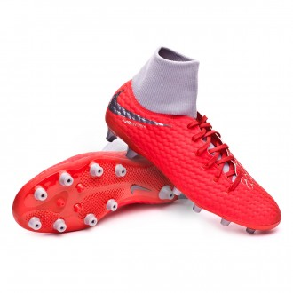 Bota  Nike Hypervenom Phantom III Academy DF AG-Pro Light crimson-Metallic dark grey-Wolf grey