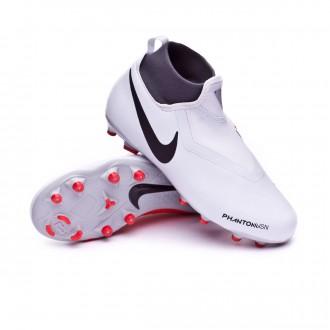 Boot  Nike Kids Phantom Vision Academy DF MG  Pure platinum-Black-Light crimson-Dark grey