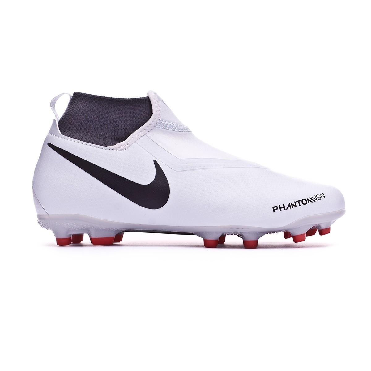 34cb306db Football Boots Nike Kids Phantom Vision Academy DF MG Pure platinum-Black-Light  crimson-Dark grey - Tienda de fútbol Fútbol Emotion