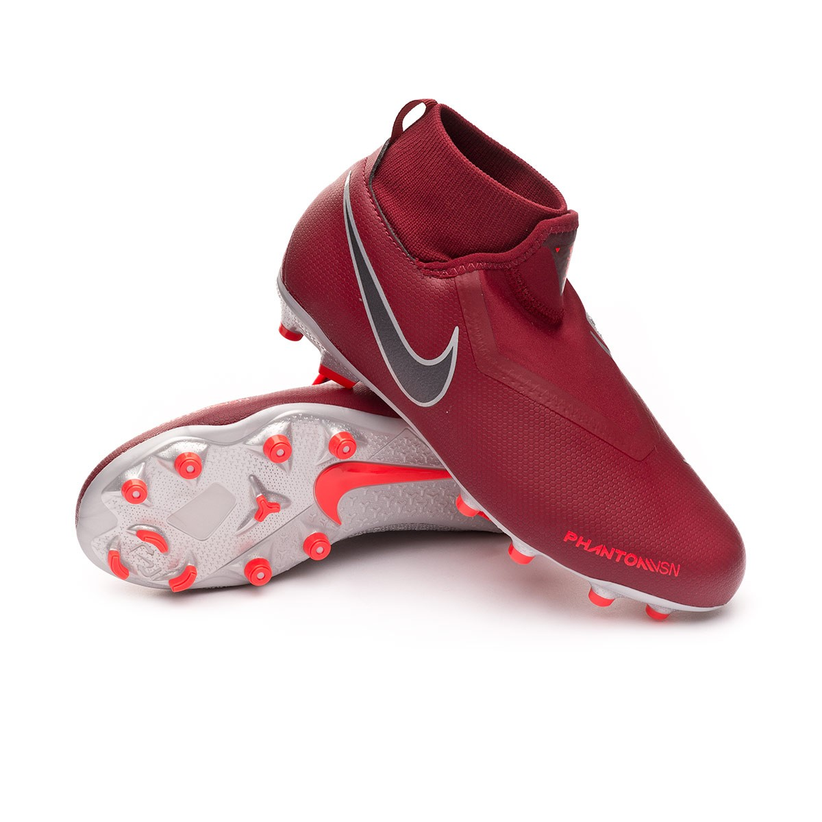 930d9ee8a Nike Kids Phantom Vision Academy DF MG Football Boots. Team red-Metallic  dark grey-Bright ...