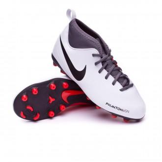 Bota  Nike Phantom Vision Club DF MG Niño Pure platinum-Black-Light crimson-Dark grey