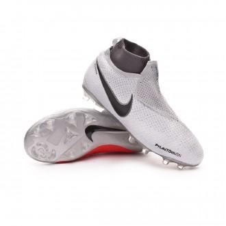 Boot  Nike Kids Phantom Vision Elite DF MG  Pure platinum-Black-Light crimson-Dark grey
