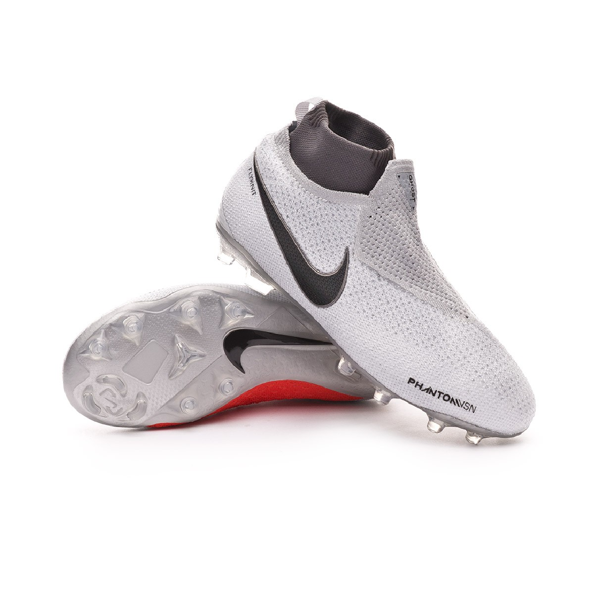 6d88e7f2d Football Boots Nike Kids Phantom Vision Elite DF MG Pure platinum-Black-Light  crimson-Dark grey - Tienda de fútbol Fútbol Emotion