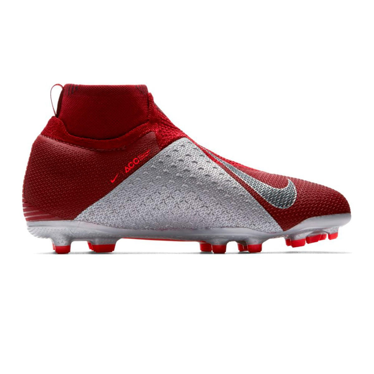 75e4ead4f3e9f Bota de fútbol Nike Phantom Vision Elite DF MG Niño Team red-Metallic dark  grey-Bright crimson - Tienda de fútbol Fútbol Emotion
