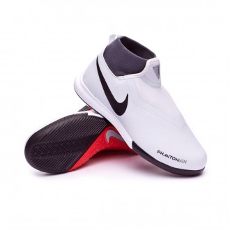 Futsal Boot  Nike Kids Phantom Vision Academy DF IC  Pure platinum-Black-Light crimson-Dark grey