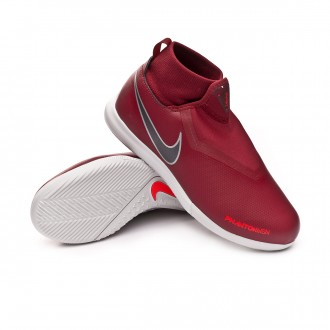 Sapatilha de Futsal  Nike Phantom Vision Academy DF IC Niño Team red-Metallic dark grey-Bright crimson