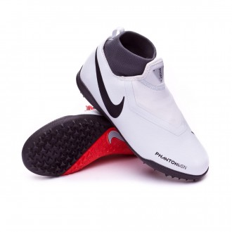 Football Boot  Nike Kids Phantom Vision Academy DF Turf  Pure platinum-Black-Light crimson-Dark grey