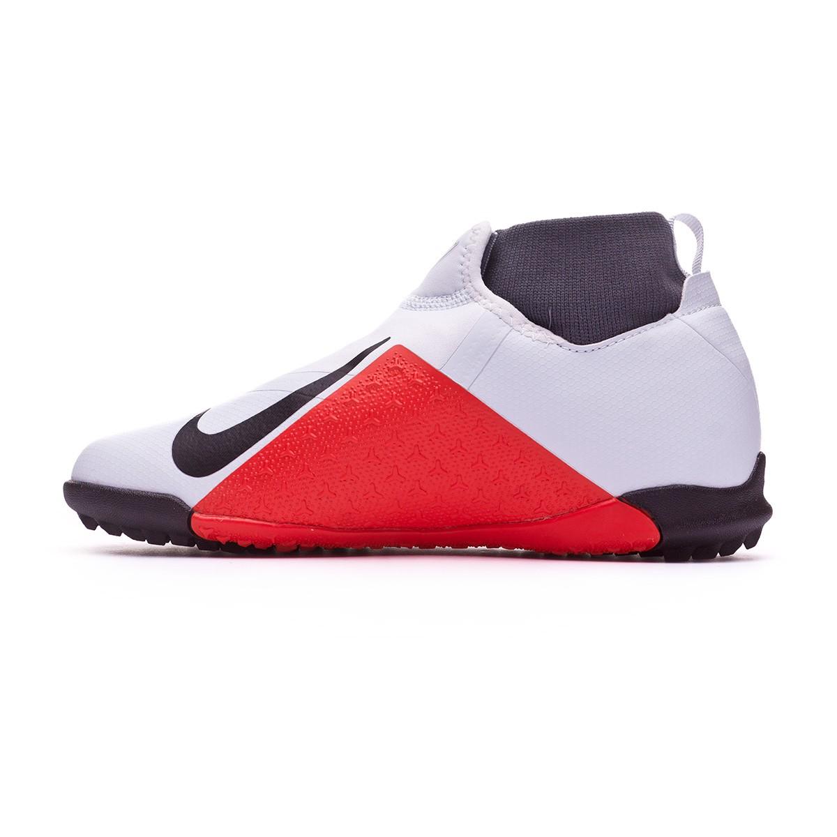 62ddd0f82 Football Boot Nike Kids Phantom Vision Academy DF Turf Pure platinum-Black-Light  crimson-Dark grey - Football store Fútbol Emotion