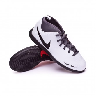 Futsal Boot  Nike Kids Phantom Vision Club DF IC  Pure platinum-Black-Light crimson-Dark grey