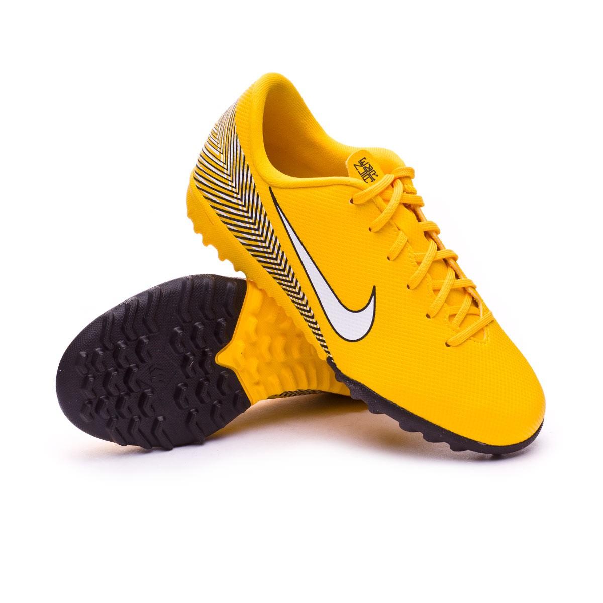 6d86d9505f284 Tenis Nike Mercurial VaporX XII Academy Turf Neymar Niño Yellow-Black -  Tienda de fútbol Fútbol Emotion