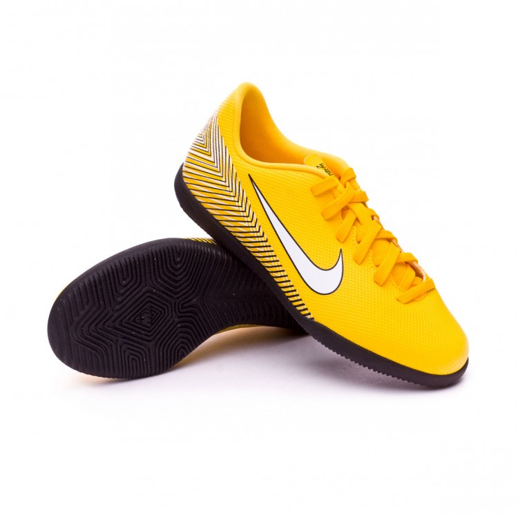 66fa27fbf1a Zapatilla Nike Mercurial VaporX XII Club IC Neymar Niño Yellow-Black ...